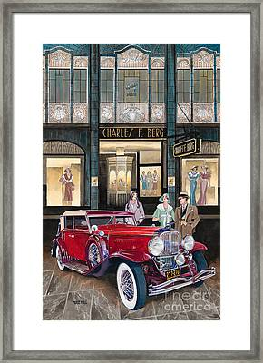 Downtown Duesenberg 1931 Framed Print by Mike Hill