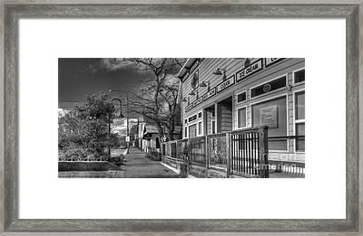 Downtown Elberta Michigan Framed Print by Twenty Two North Photography