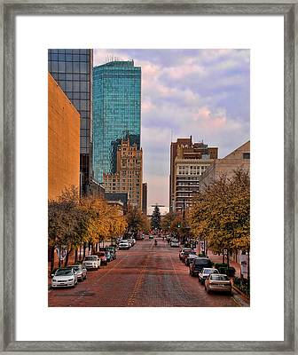Downtown Fort Worth Texas  Framed Print