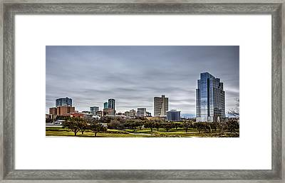 Downtown Fort Worth Trinity Trail Framed Print