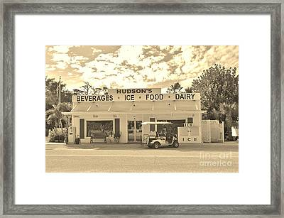 Downtown Gasparilla Framed Print