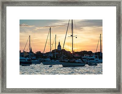Downtown Glow Framed Print