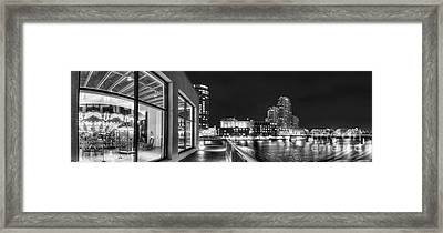Downtown Grand Rapids In Black And White Framed Print
