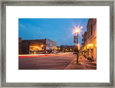 Downtown Hamlet Framed Print