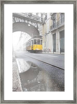 Downtown Haze Framed Print by Jorge Maia