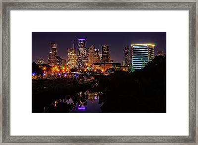 Downtown Houston Framed Print