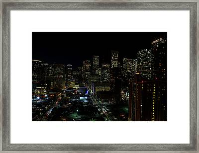 Downtown Houston At Night Framed Print