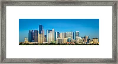 Downtown Houston Daytime Framed Print