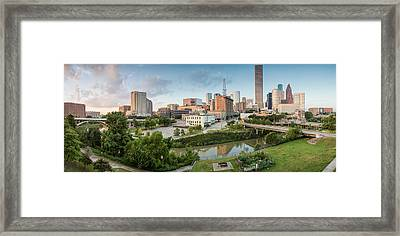Downtown Houston From Uh-d. September Framed Print by Silvio Ligutti