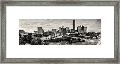 Downtown Houston From Uh-d Framed Print by Silvio Ligutti
