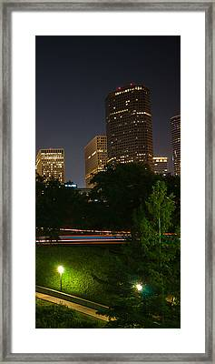 Downtown Houston Right Triptych Framed Print