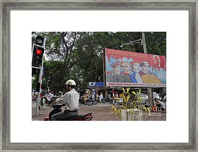 Downtown In Hanoi Framed Print by Sami Sarkis