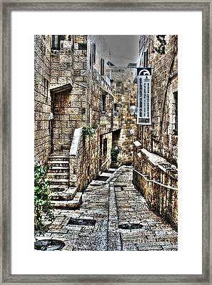 Framed Print featuring the photograph Downtown In Jerusalems Old City by Doc Braham