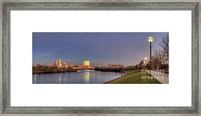 Downtown Indianapolis From White River Framed Print by Twenty Two North Photography