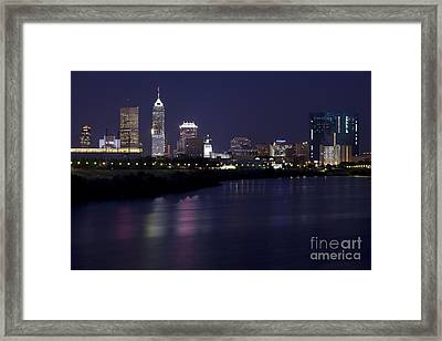 Downtown Indianapolis Indiana  Framed Print by Anthony Totah