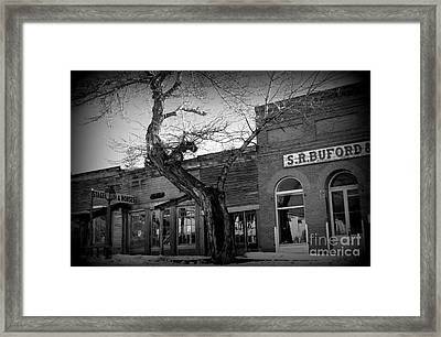 Framed Print featuring the photograph Downtown by Janice Westerberg