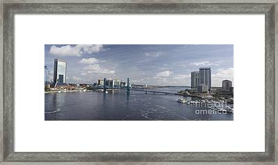 Downtown Jax St Johns Pano Framed Print