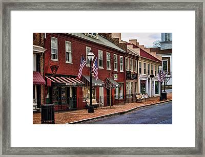 Downtown Jonesborough Tn Framed Print