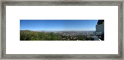Downtown La From Griffith Observatory Framed Print by Bedros Awak