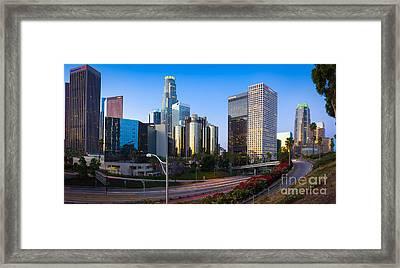Downtown L.a. Framed Print