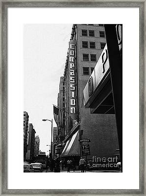 Framed Print featuring the photograph Downtown La - Mid '70's by Doc Braham