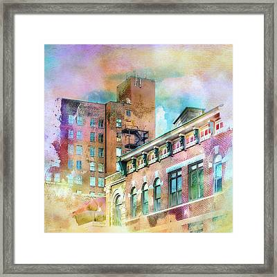 Downtown Living In Color Framed Print