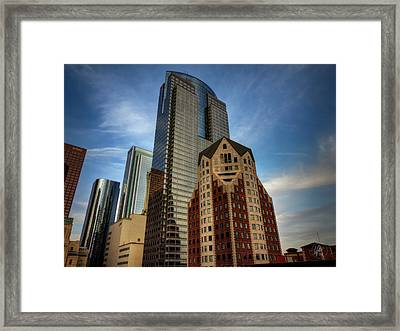 Downtown Los Angeles 002 Framed Print by Lance Vaughn