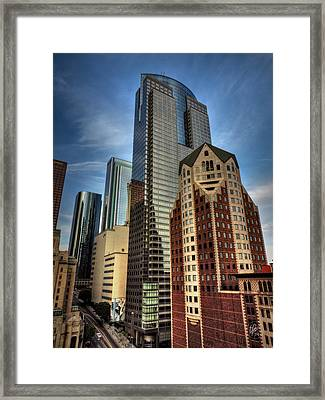 Downtown Los Angeles 003 Framed Print by Lance Vaughn