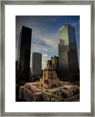 Downtown Los Angeles 004 Framed Print by Lance Vaughn