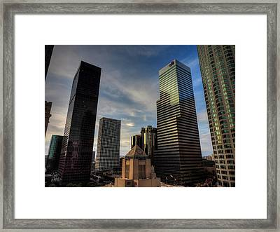 Downtown Los Angeles 005 Framed Print by Lance Vaughn