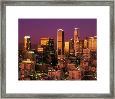 Downtown Los Angeles, California Framed Print