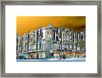 Downtown Los Angeles Corner Facade Framed Print