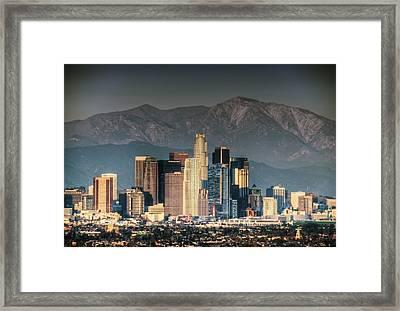 Downtown Los Angeles Framed Print by Natasha Bishop