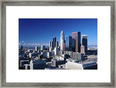 Downtown Los Angeles Viewed Framed Print
