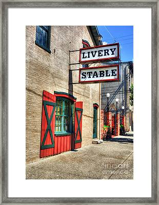 Downtown Madison Indiana Framed Print by Mel Steinhauer