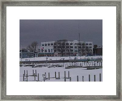 Downtown Menominee Framed Print by Jonathon Hansen