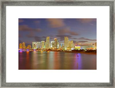 Downtown Miami And Aaa Framed Print by Claudia Domenig