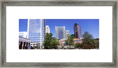 Downtown Modern Buildings In A City Framed Print
