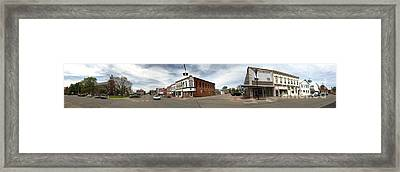 Downtown Montezuma Iowa Panorama Framed Print by Gregory Dyer