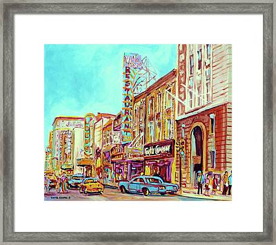 Downtown Montreal Framed Print by Carole Spandau