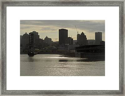 Downtown Montreal Framed Print by Eric Soucy
