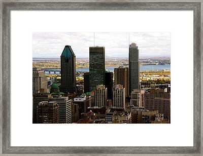 Downtown Montreal In Fall Framed Print by Jocelyne Choquette