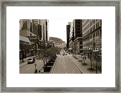 Downtown Montreal Framed Print by Jocelyne Choquette