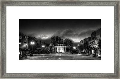 Downtown Murphy Nc In Black And White Framed Print
