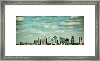 Downtown Nashville After Sunrise Framed Print