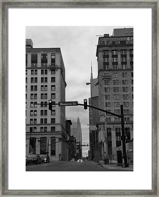 Downtown Nashville In Black And White Framed Print by Dan Sproul