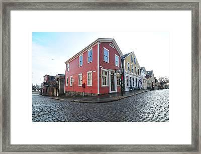 Whaling City Framed Print
