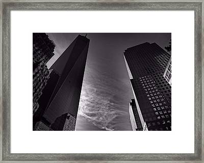 Downtown New York City In Black And White Framed Print by Dan Sproul