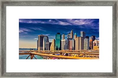Downtown Nyc Framed Print by David Hahn