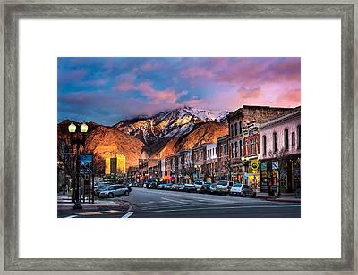 Downtown Ogden Utah Framed Print